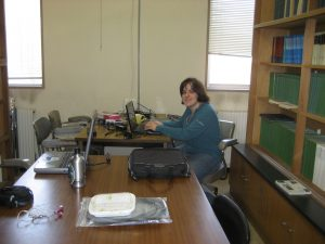 "My last ""work retreat"", writing in the library at Tomakomai Experimental Forest, March 2009"